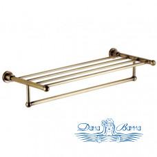 Полка для полотенец Aquanet 3862 латунь