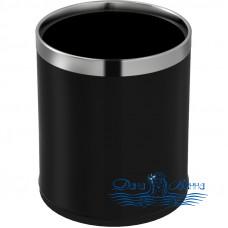 Ведро для мусора WeltWasser Axen BL 6L 10000003987 черное матовое