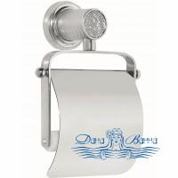 Держатель туалетной бумаги Boheme Royal Cristal 10921-CR с крышкой