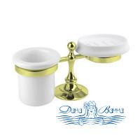 Стакан и мыльница Cezares OLIMP-STT-03/24-M золото