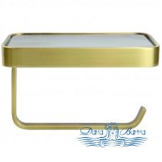 Держатель туалетной бумаги Bronze de Luxe 1760S 10513 с полкой бронза
