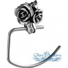 Держатель для полотенец Art&Max Rose AM-B-0916-T серебро