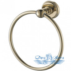 Кольцо для полотенец Aquanet 4680 золото