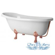 Ванна из литьевого мрамора Castone Даллас 170x82 ножки бронза, слив-перелив внешний Vicario бронза