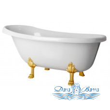Ванна из литьевого мрамора Castone Даллас 170x82 ножки золото