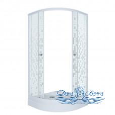 Душевой уголок Triton Стандарт А 90х90 стекло мозаика