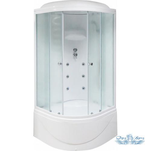 Душевая кабина Royal Bath RB 100BK3-WC 100х100 (белое/матовое)