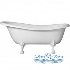 Ванна из литьевого мрамора Castone Даллас 170x82 ножки белые