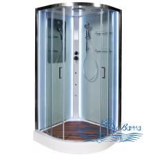 Душевая кабина Deto А 01 LED и гидромассажем 100х100