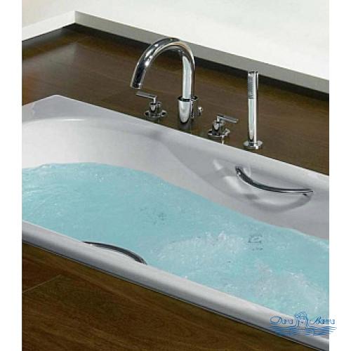 Чугунная ванна Roca Malibu 2333G0000 170х70 с ручками