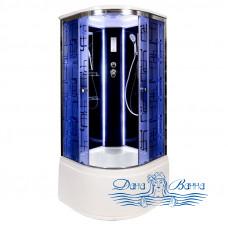 Душевая кабина Deto BМ 4590 Black с LED-подсветкой (90x90)