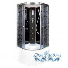 Душевая кабина Deto BМ 4590 Black с гидромассажем и электрикой (90x90)