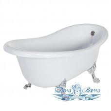 Ванна из литьевого мрамора Migliore Bella 170x80, фурнитура хром