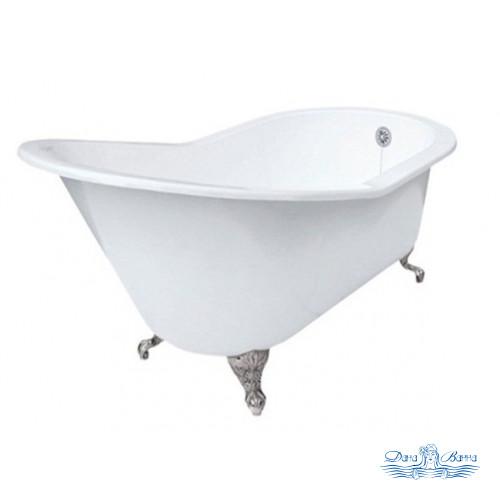 Чугунная ванна Magliezza Beatrice 153x76 ножки хром