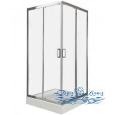 Душевой уголок BelBagno UNO-A-2-80-C-Cr 80x80 стекло прозрачное