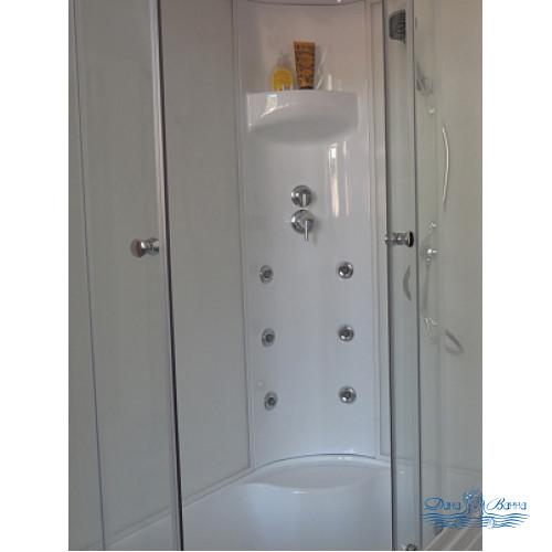 Душевая кабина Royal Bath RB 8120BK3-WT R 120х80 (белое/прозрачное)