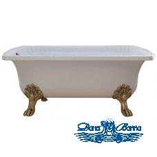 Ванна из литьевого мрамора Migliore OLIVIA 175x80, на лапах Migliore, бронза