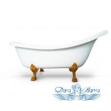 Ванна из литьевого мрамора Castone Даллас King Size 175x85 ножки золото