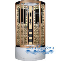 Душевая кабина Niagara Lux 7790G золото 90х90