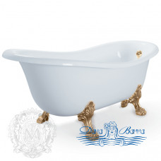 Ванна из литьевого мрамора Migliore Bella 170x80, на лапах Migliore, бронза