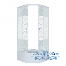 Душевой уголок Triton Стандарт В 90х90 стекло узоры