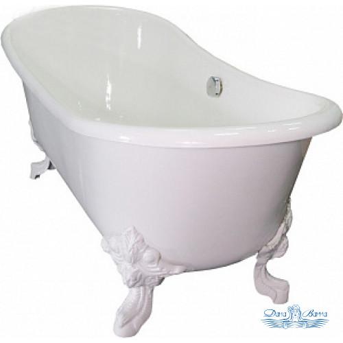 Чугунная ванна Elegansa Nadia белые ножки