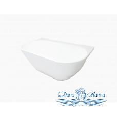 Ванна из литьевого мрамора Castone Эдем 170x90 пристенная с отверстием перелива
