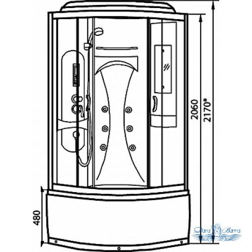 Душевая кабина Luxus 895 90х90