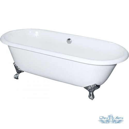 Чугунная ванна Elegansa Gretta Chrome 170х75