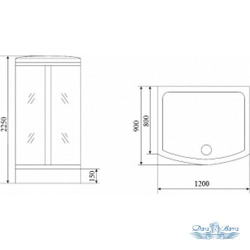 Душевая кабина Timo Lux T-7715 120х90