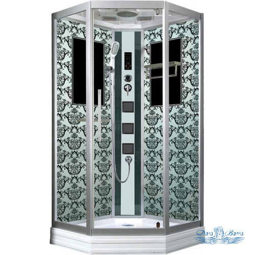 Душевая кабина Niagara Lux 7717W хром, металлик 100х100