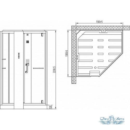 Душевая кабина Orans SR-89106S белая, с баней 130х130