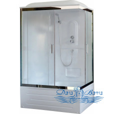 Душевая кабина Royal Bath RB 8100BP1-M-CH L 100х80 (матовое)