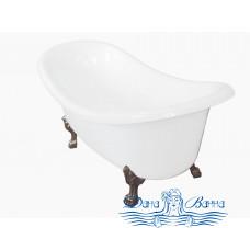 Ванна из литьевого мрамора Castone Корсика 190x86 ножки бронза