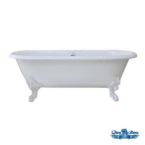Чугунная ванна Magliezza Patricia 183x80 ножки белые