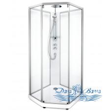 Душевая кабина IDO Showerama 10-5 Comfort 90х90 профиль хром, стекло прозрачное
