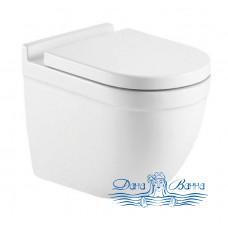 Унитаз подвесной CeramaLux 2198MW с сиденьем Soft Close, белый