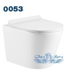 Унитаз подвесной Azario Teramo 0053 безободковый с сиденьем Soft Close