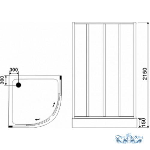 Душевая кабина Black&White Galaxy G8501 800 80х80