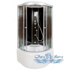 Душевая кабина Deto L 890 BLACK с гидромассажем и электрикой (90x90)