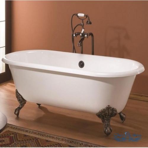 Чугунная ванна Magliezza Patricia 183x80 ножки хром