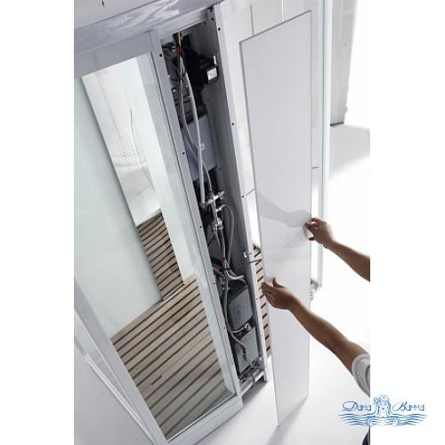 Душевая кабина Orans SR-89105LS белая, с баней 120х90