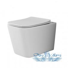 Унитаз подвесной Ceramica Nova Cubic Rimless CN1806 с сиденьем SoftClose