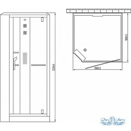 Душевая кабина Orans SR-89101RS белая, с баней 100х100