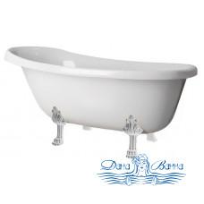 Ванна из литьевого мрамора Castone Даллас 170x82 ножки хром