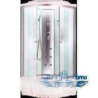 Душевая кабина Aquapulse 3205B fabric white 120х120