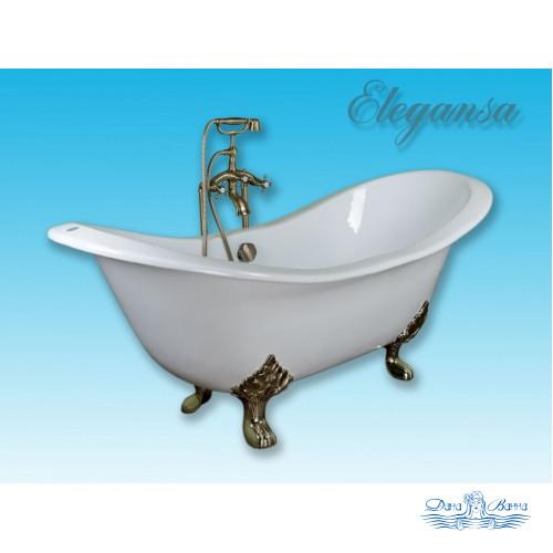 Чугунная ванна Elegansa Taiss Gold 180x80