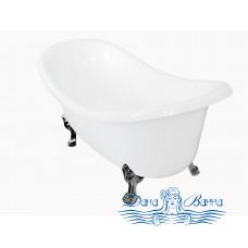 Ванна из литьевого мрамора Castone Корсика 190x86 ножки хром