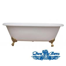 Чугунная ванна Magliezza Patricia 168x76 ножки золото