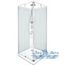 Душевая кабина IDO Showerama 10-5 Square 90х90 профиль белый, задние стекла матовые